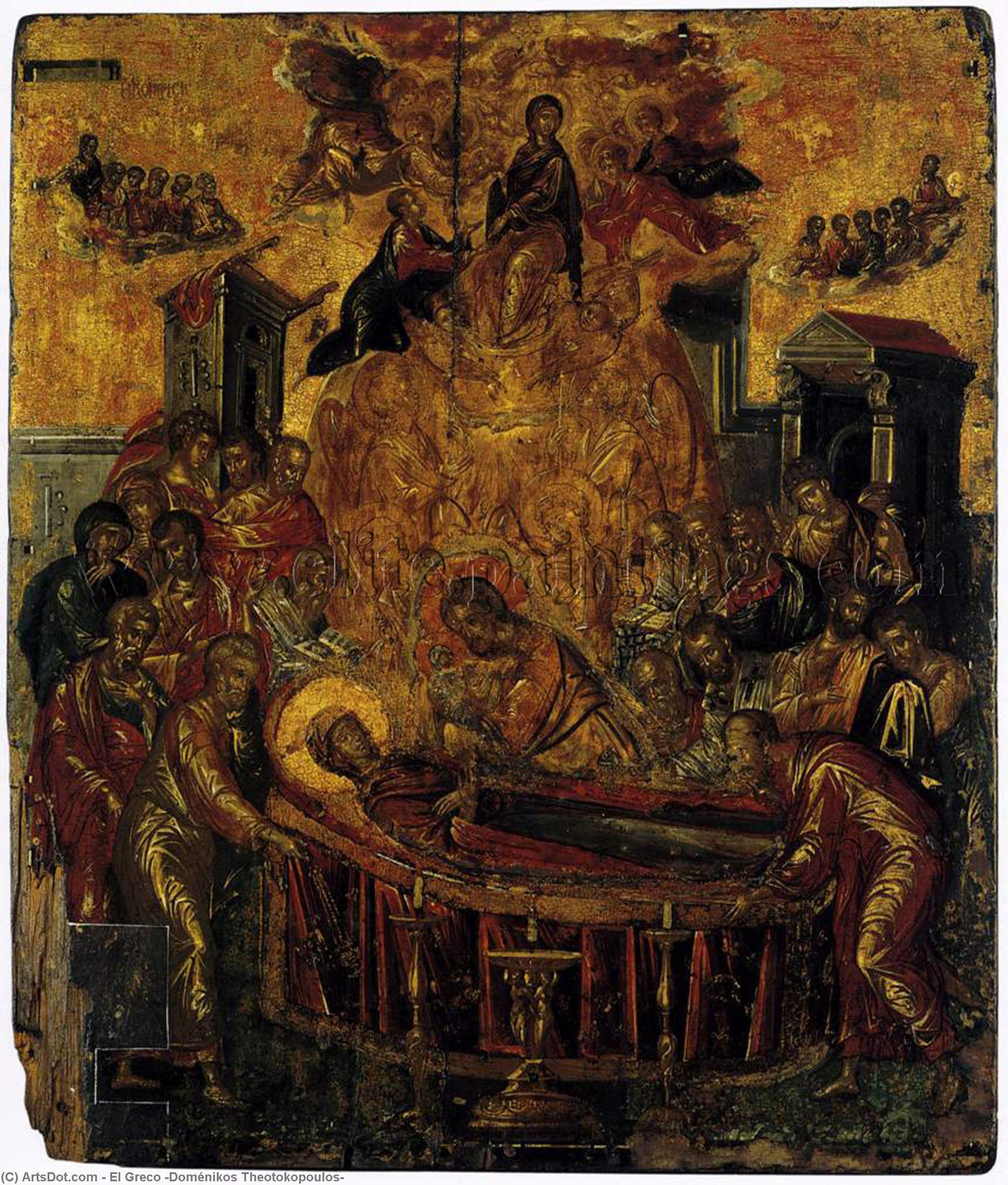 Wikioo.org - The Encyclopedia of Fine Arts - Painting, Artwork by El Greco (Doménikos Theotokopoulos) - The Dormition of the Virgin