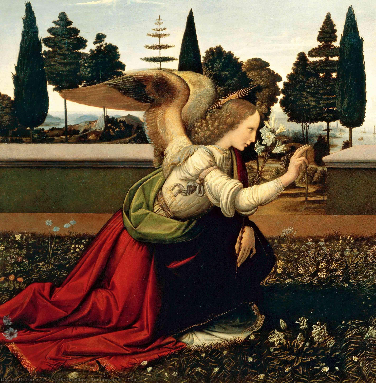 Wikioo.org - The Encyclopedia of Fine Arts - Painting, Artwork by Leonardo Da Vinci - Annunciation (detail)