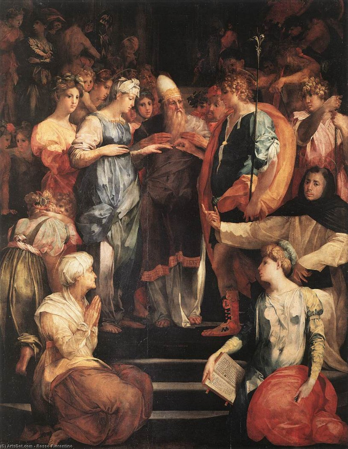 Wikioo.org - The Encyclopedia of Fine Arts - Painting, Artwork by Rosso Fiorentino - Marriage of the Virgin