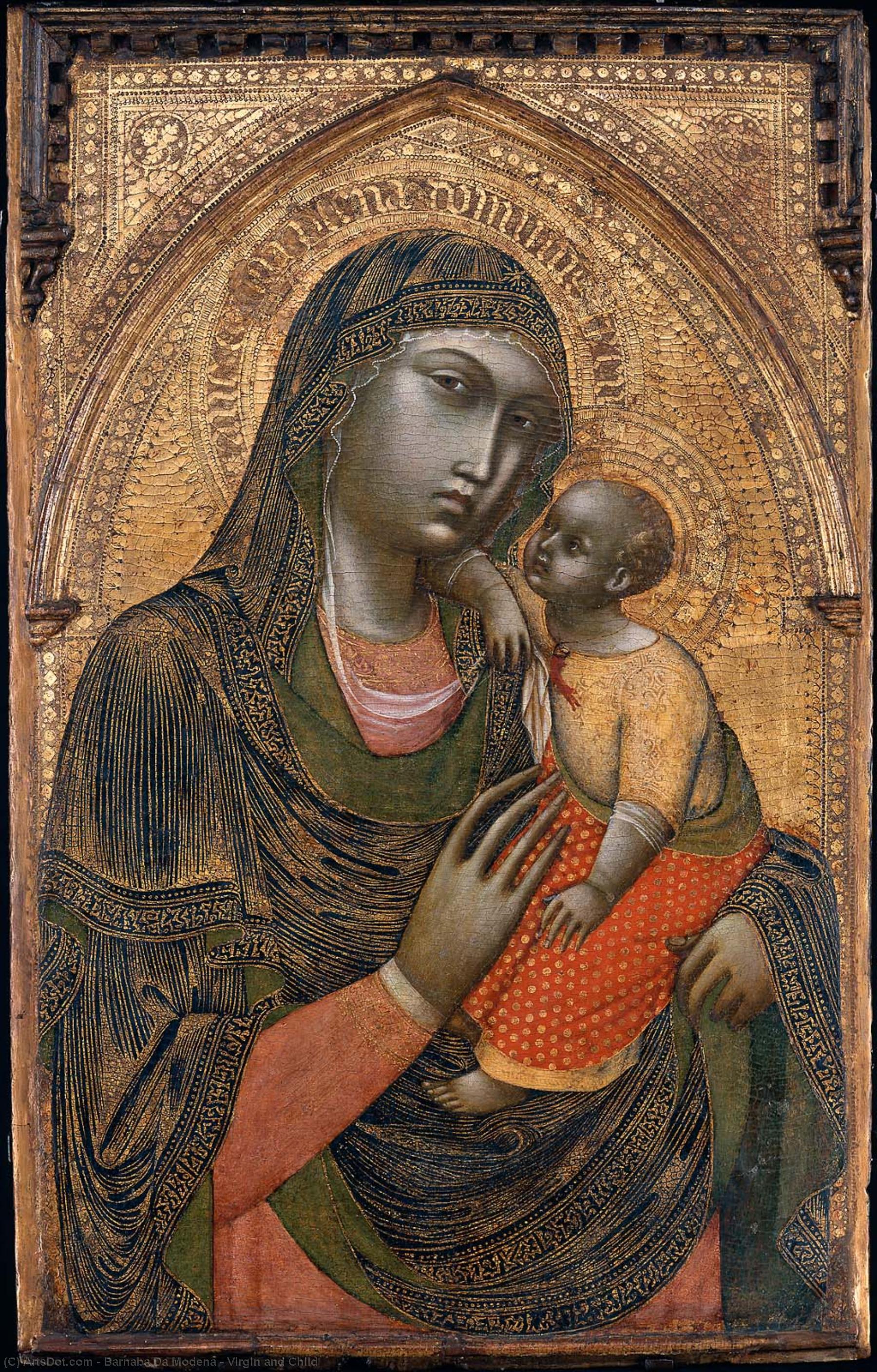 WikiOO.org - Enciklopedija dailės - Tapyba, meno kuriniai Barnaba Da Modena - Virgin and Child