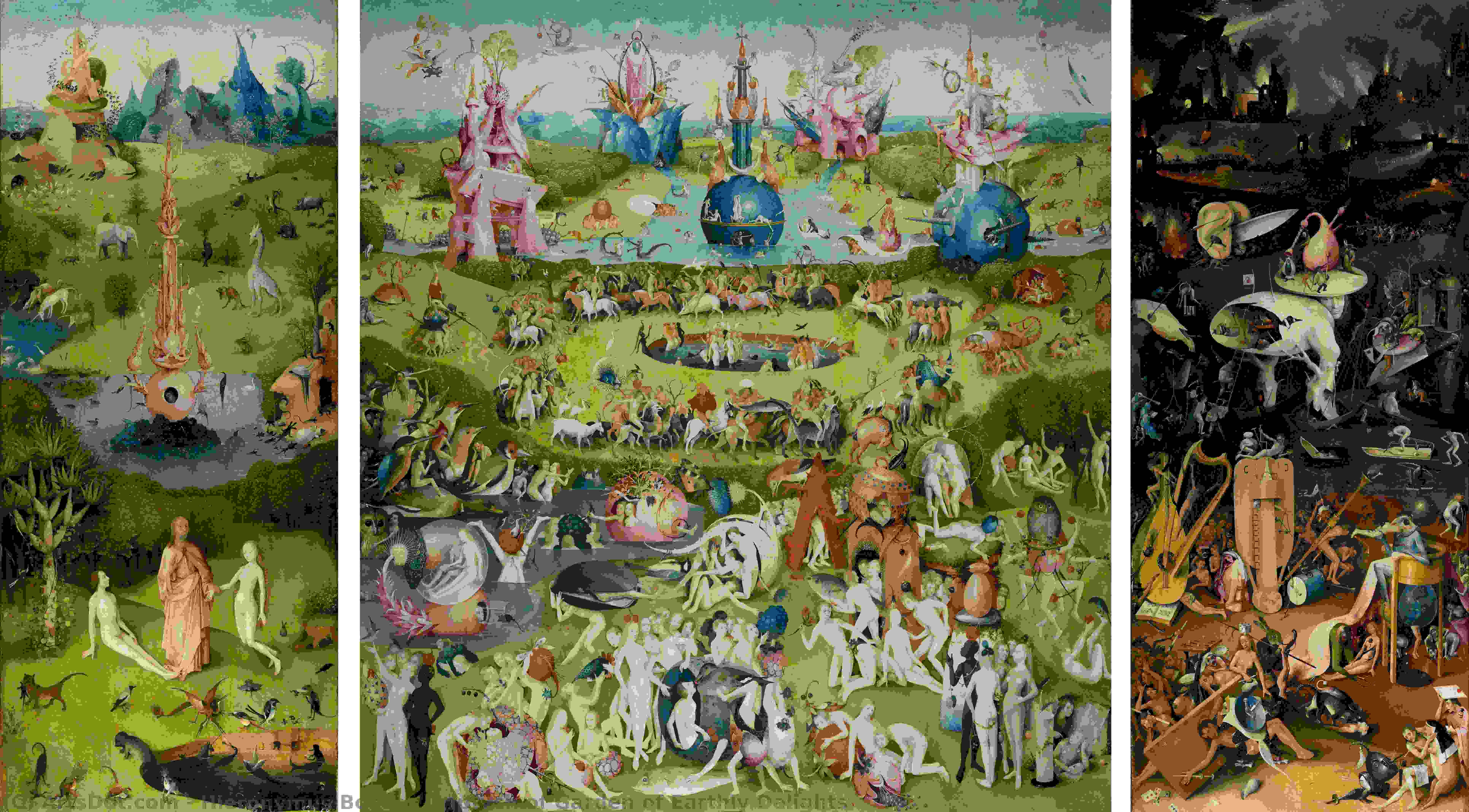 Wikioo.org - The Encyclopedia of Fine Arts - Painting, Artwork by Hieronymus Bosch - Triptych of Garden of Earthly Delights