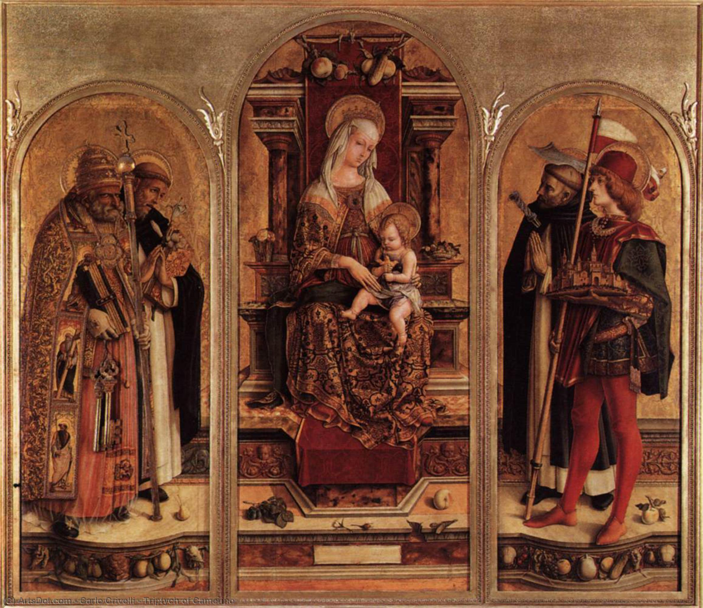 Wikioo.org - The Encyclopedia of Fine Arts - Painting, Artwork by Carlo Crivelli - Triptych of Camerino