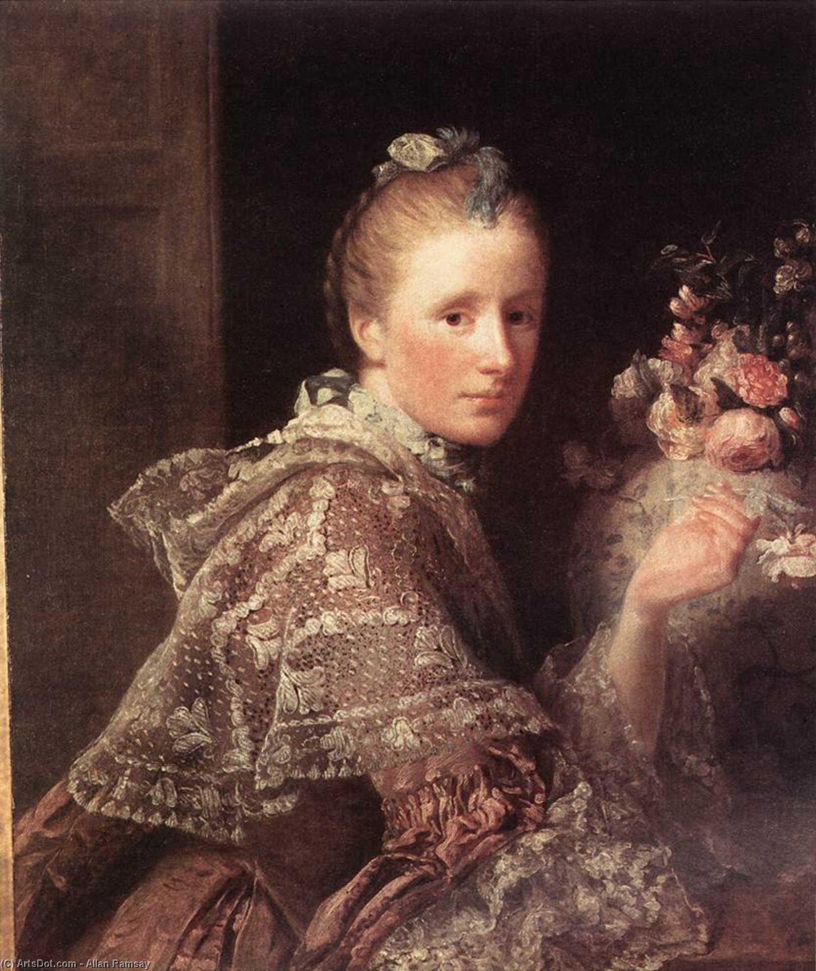 Wikioo.org - The Encyclopedia of Fine Arts - Painting, Artwork by Allan Ramsay - Portrait of the Artist's Wife