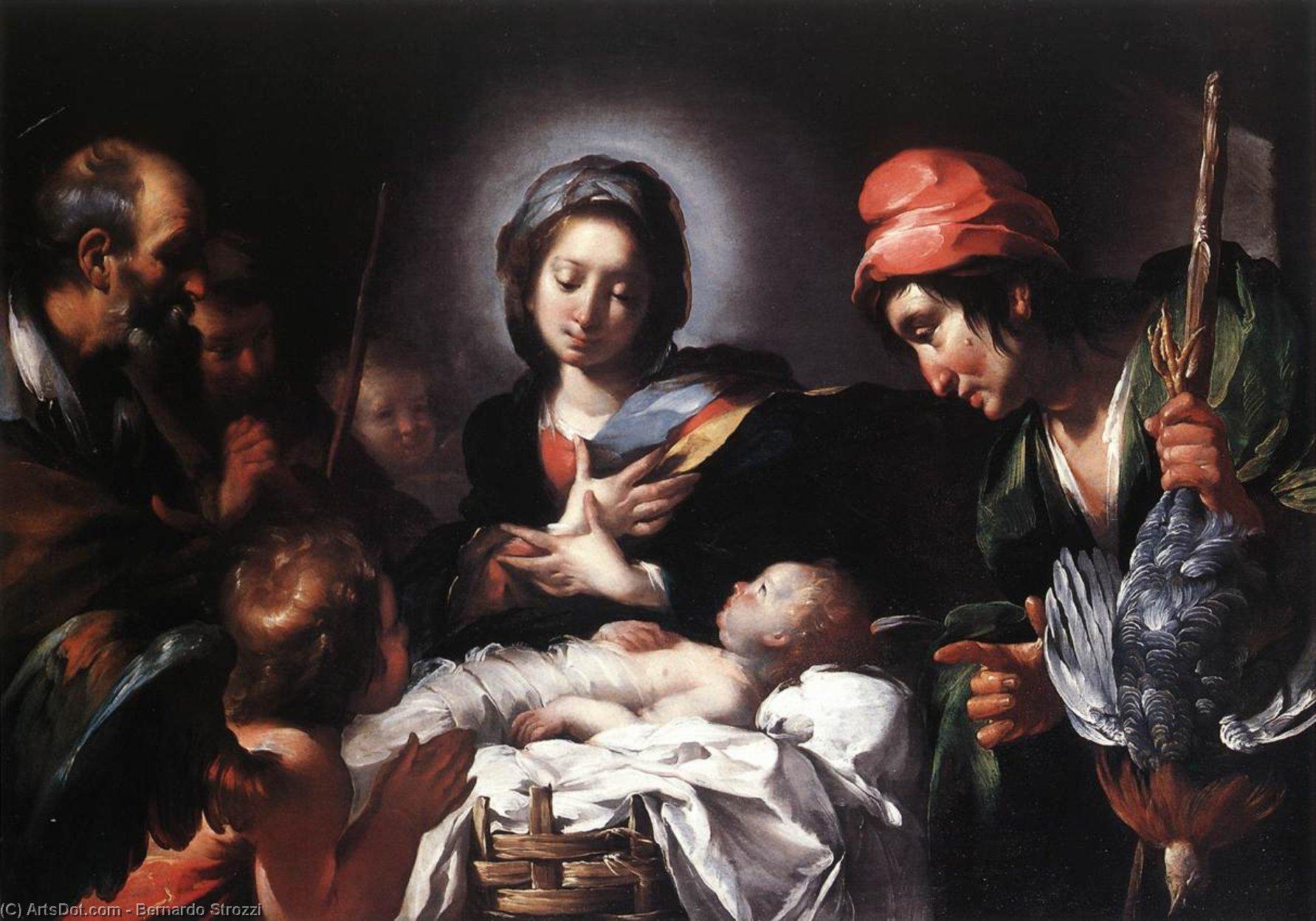 Wikioo.org - The Encyclopedia of Fine Arts - Painting, Artwork by Bernardo Strozzi - Adoration of the Shepherds