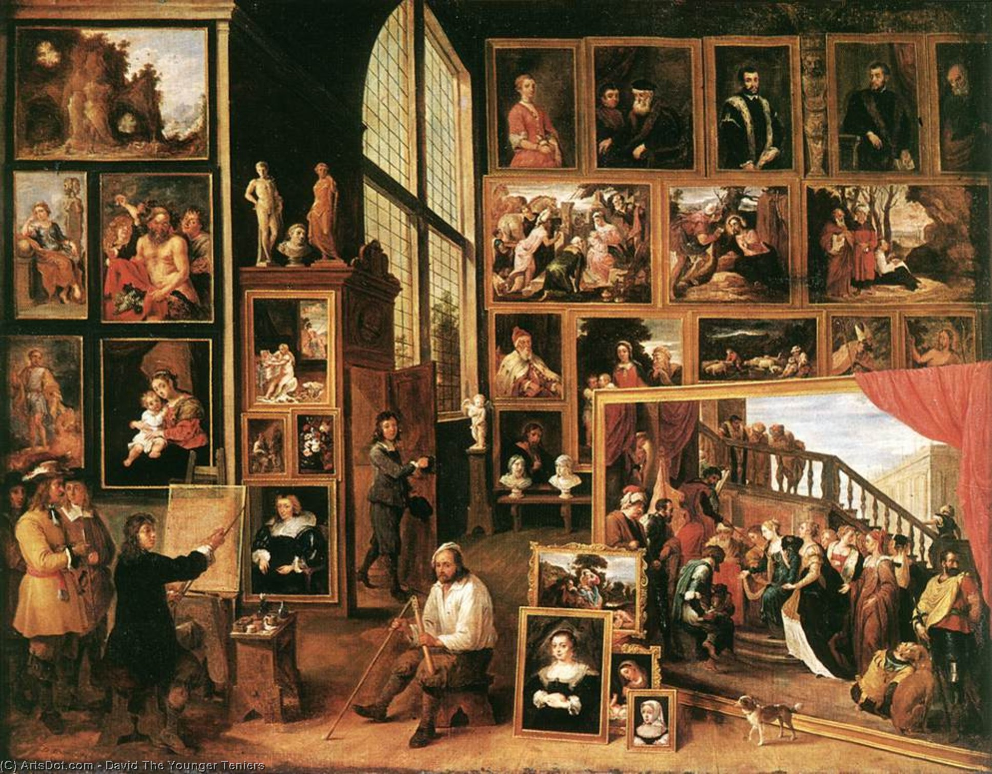 Wikioo.org - The Encyclopedia of Fine Arts - Painting, Artwork by David The Younger Teniers - The Gallery of Archduke Leopold in Brussels