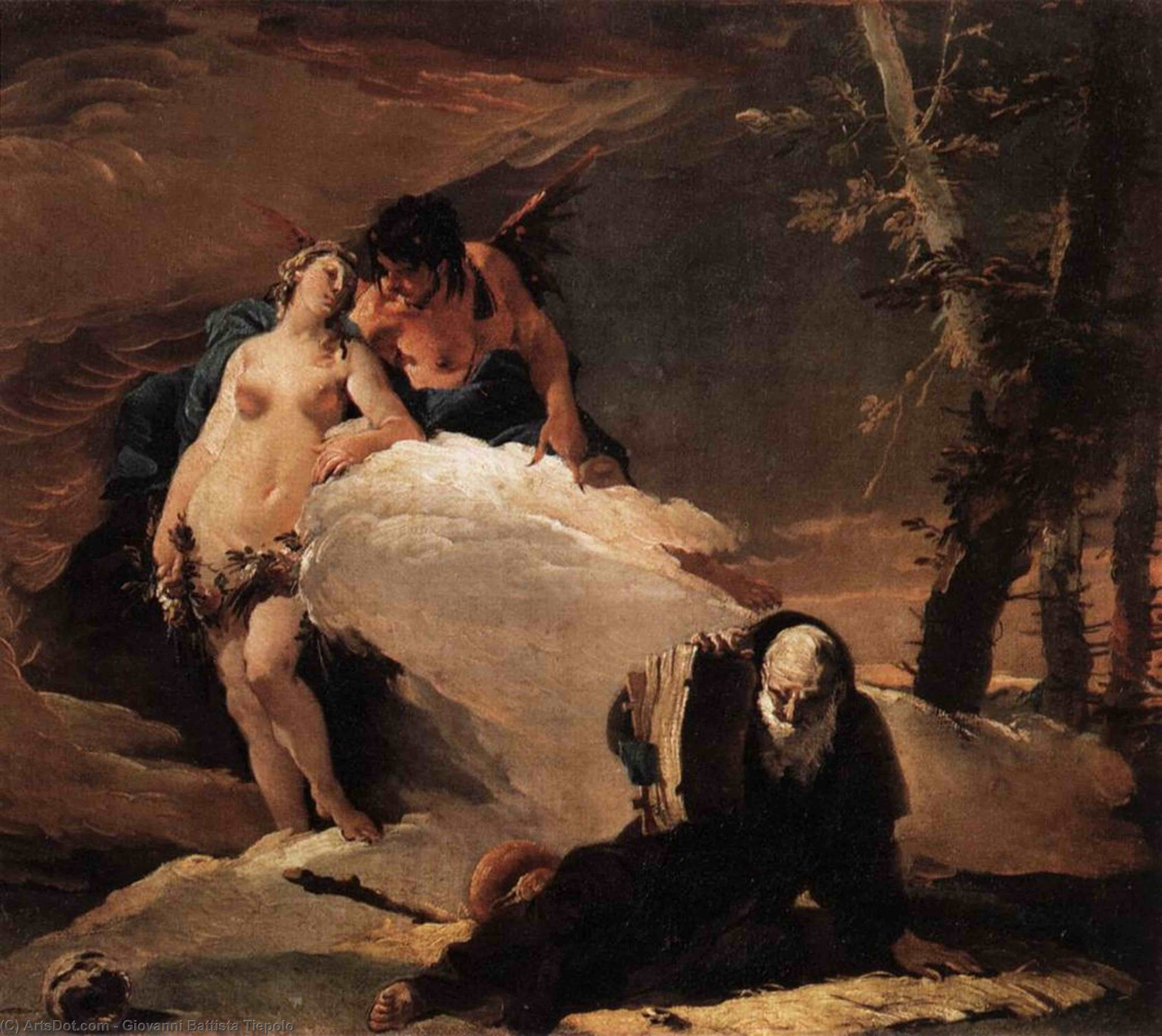 Wikioo.org - The Encyclopedia of Fine Arts - Painting, Artwork by Giovanni Battista Tiepolo - Temptations of St Anthony