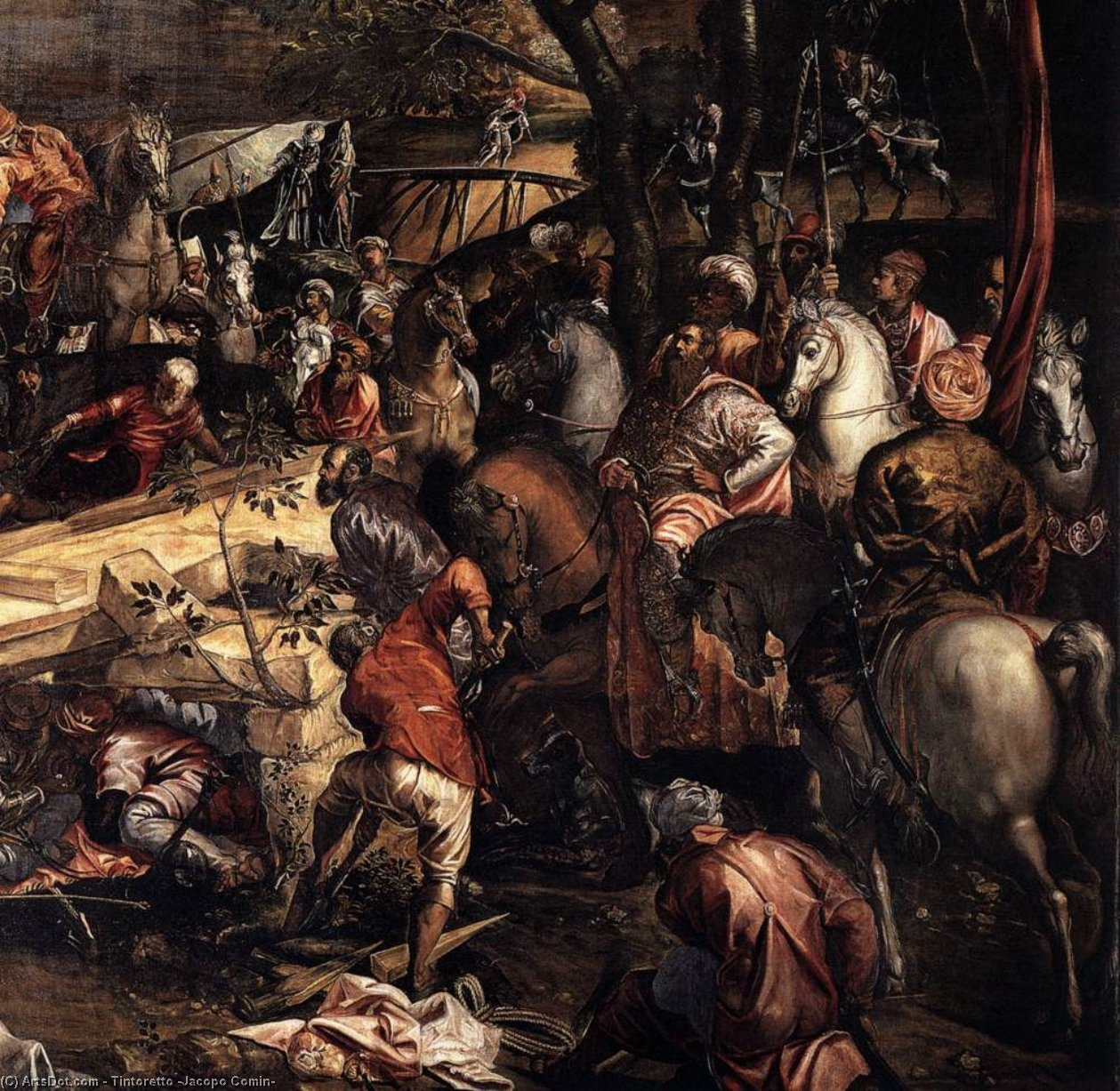 Wikioo.org - The Encyclopedia of Fine Arts - Painting, Artwork by Tintoretto (Jacopo Comin) - The Crucifixion (detail) (10)