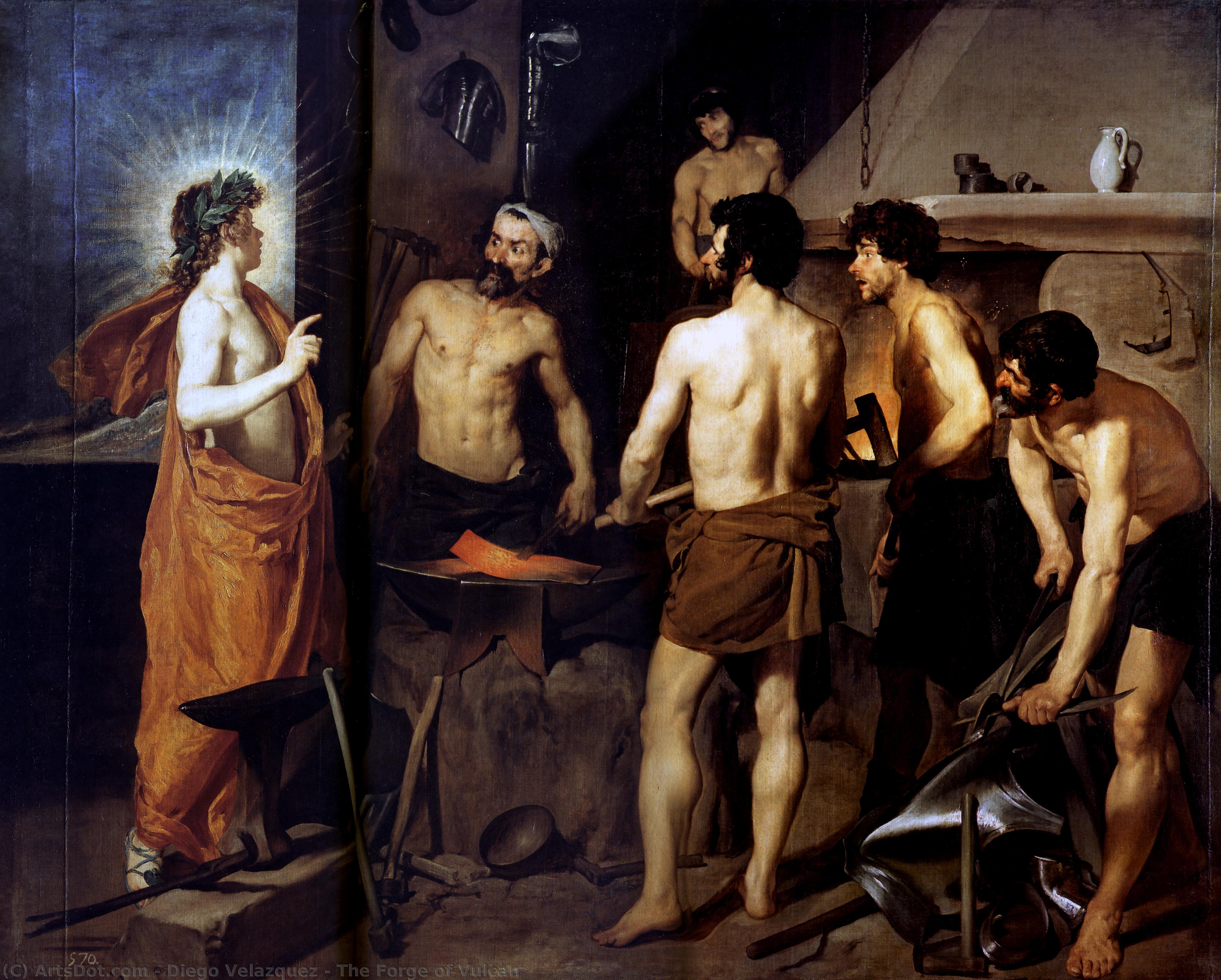 Wikioo.org - The Encyclopedia of Fine Arts - Painting, Artwork by Diego Velazquez - The Forge of Vulcan