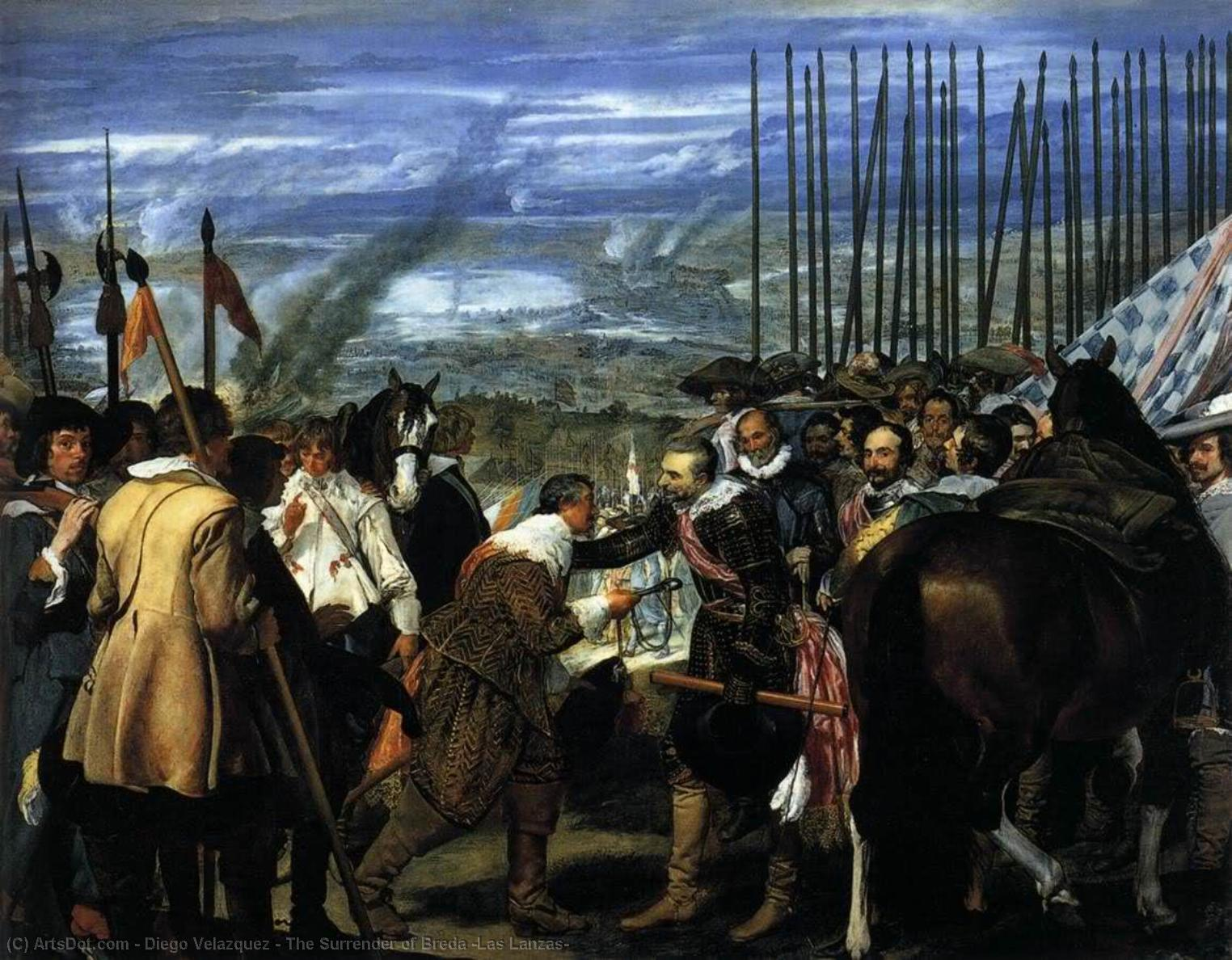 Wikioo.org - The Encyclopedia of Fine Arts - Painting, Artwork by Diego Velazquez - The Surrender of Breda (Las Lanzas)