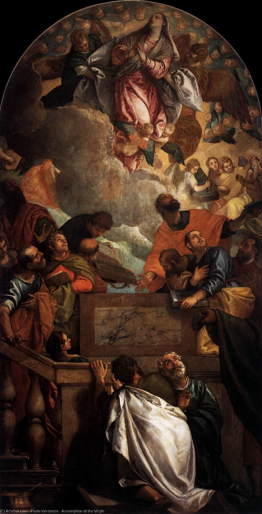 Wikioo.org - The Encyclopedia of Fine Arts - Painting, Artwork by Paolo Veronese - Assumption of the Virgin