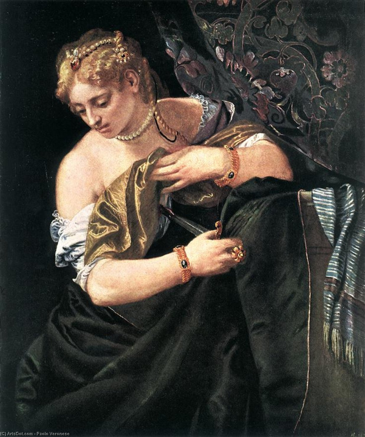 Wikioo.org - The Encyclopedia of Fine Arts - Painting, Artwork by Paolo Veronese - Lucretia