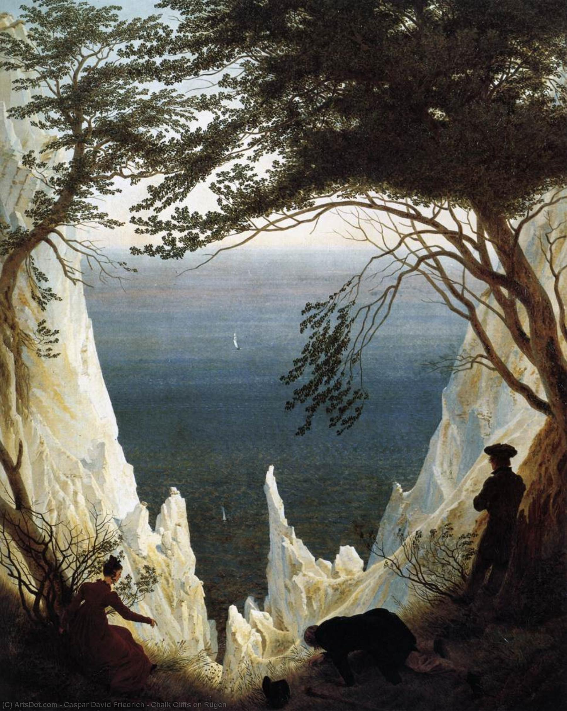Wikioo.org - The Encyclopedia of Fine Arts - Painting, Artwork by Caspar David Friedrich - Chalk Cliffs on Rügen
