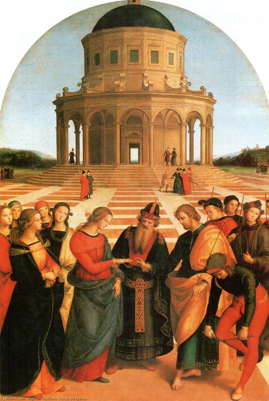 Wikioo.org - The Encyclopedia of Fine Arts - Painting, Artwork by Raphael (Raffaello Sanzio Da Urbino) - Marriage of the Virgin