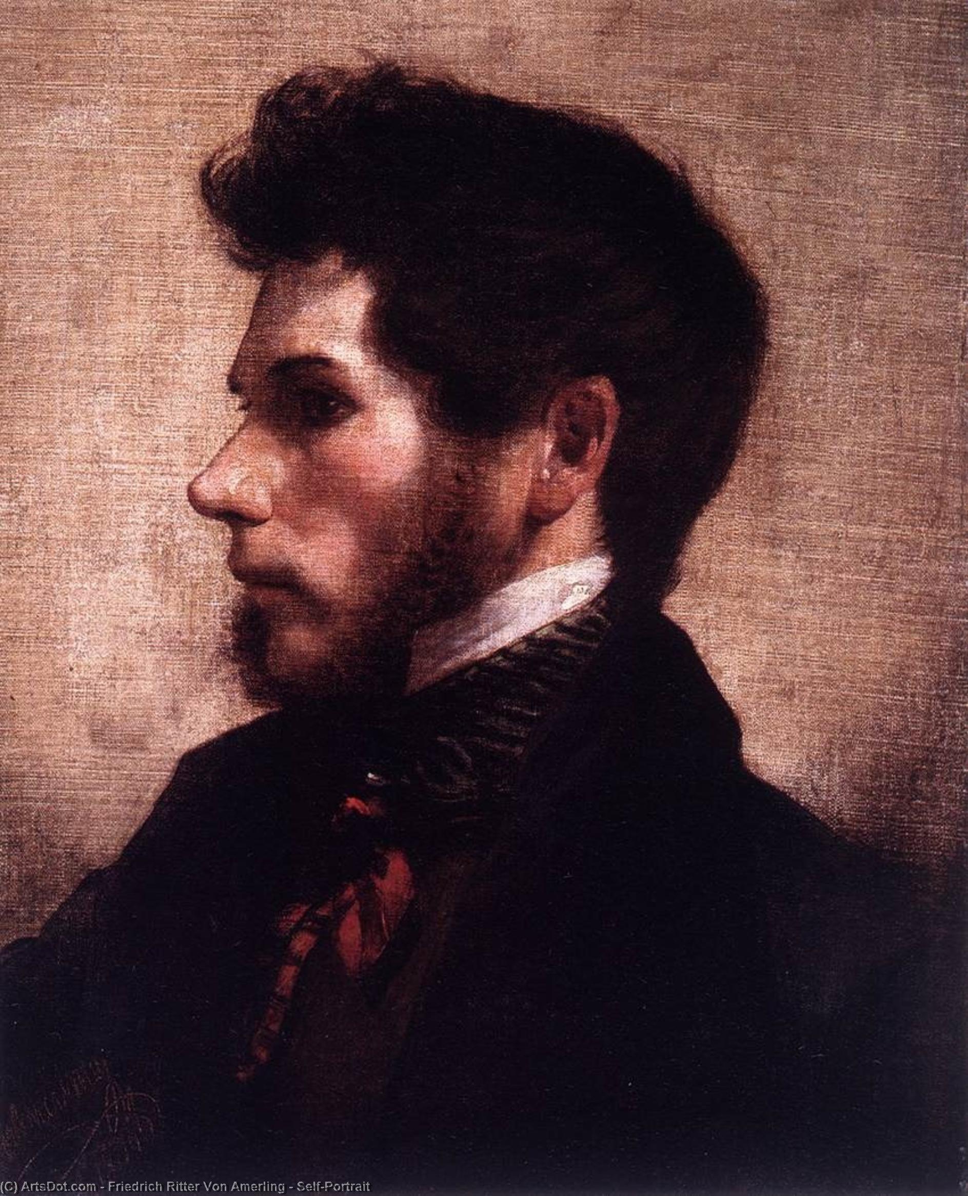 WikiOO.org - Güzel Sanatlar Ansiklopedisi - Resim, Resimler Friedrich Ritter Von Amerling - Self-Portrait
