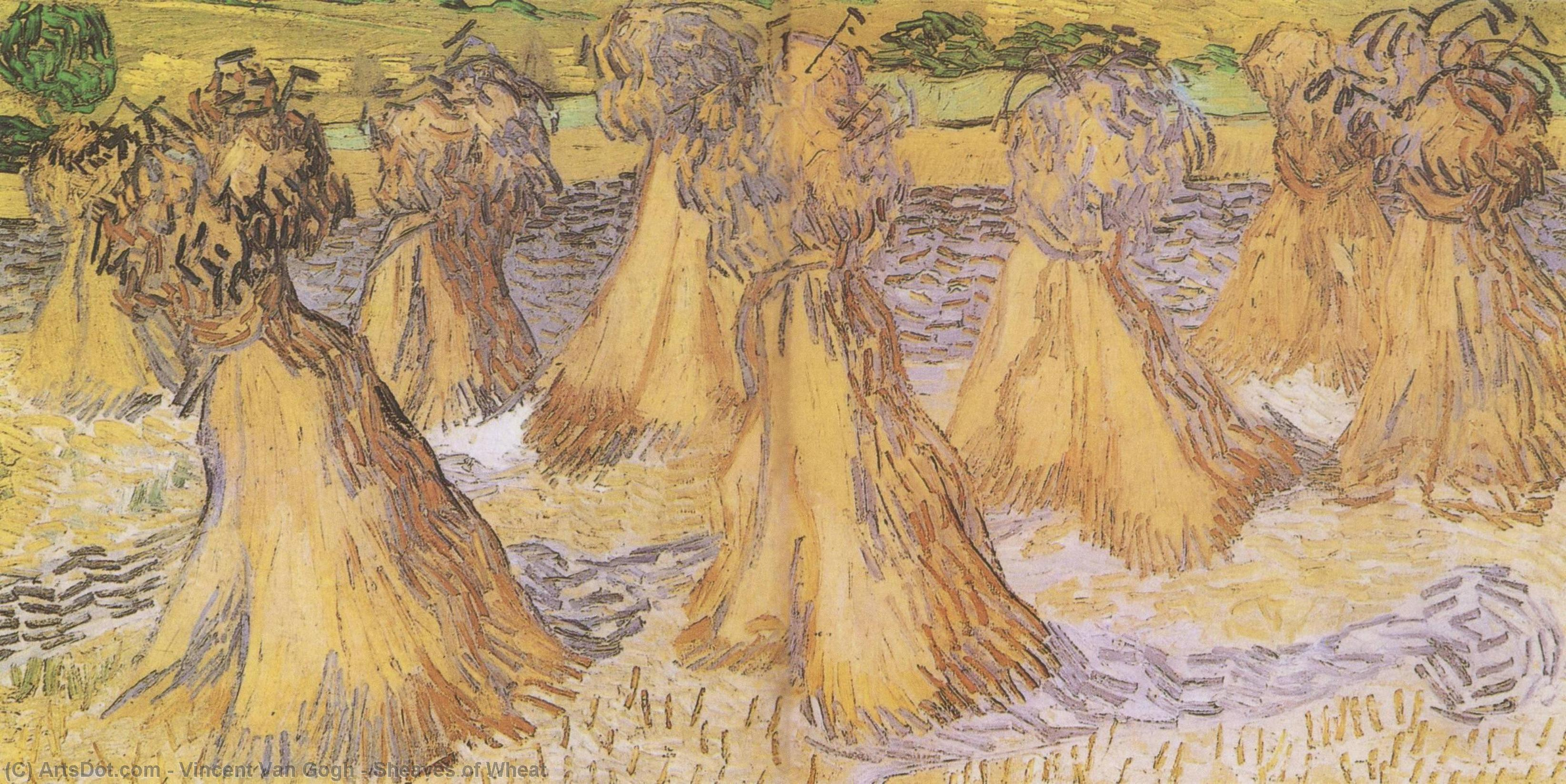 Wikioo.org - The Encyclopedia of Fine Arts - Painting, Artwork by Vincent Van Gogh - Sheaves of Wheat