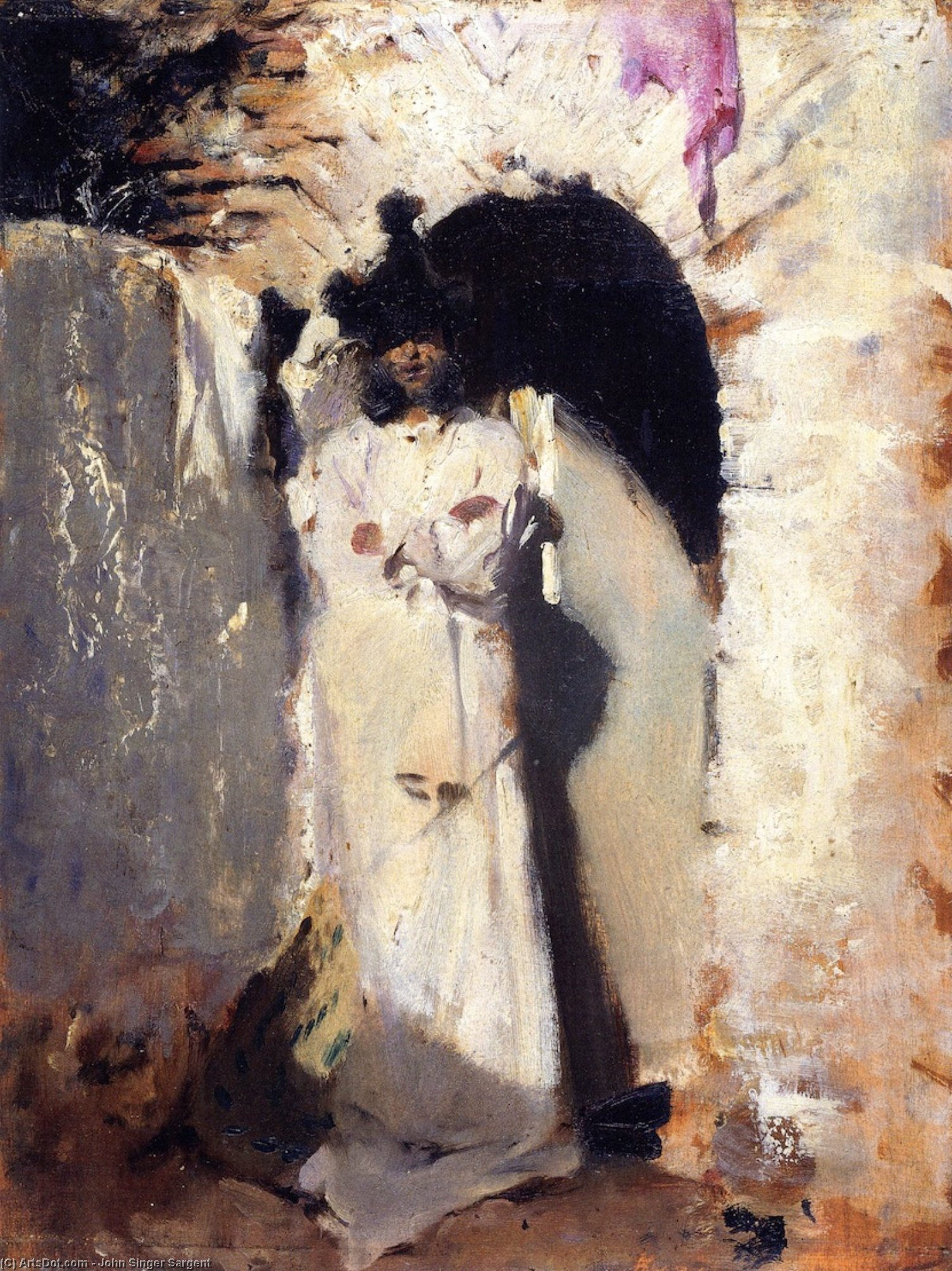 Wikioo.org - The Encyclopedia of Fine Arts - Painting, Artwork by John Singer Sargent - A Spanish Figure (also known as Landscape with Hills)