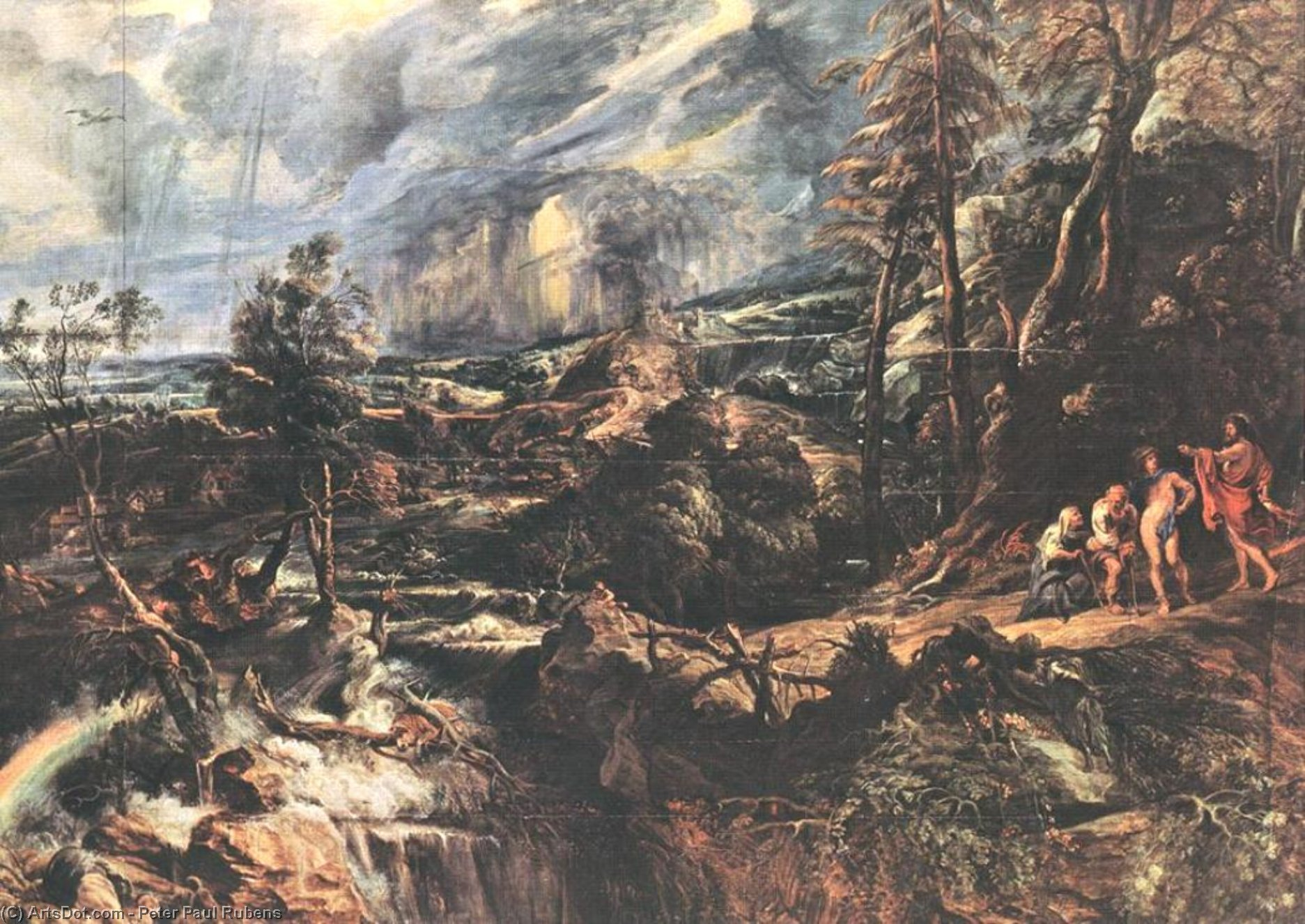 Wikioo.org - The Encyclopedia of Fine Arts - Painting, Artwork by Peter Paul Rubens - Stormy Landscape
