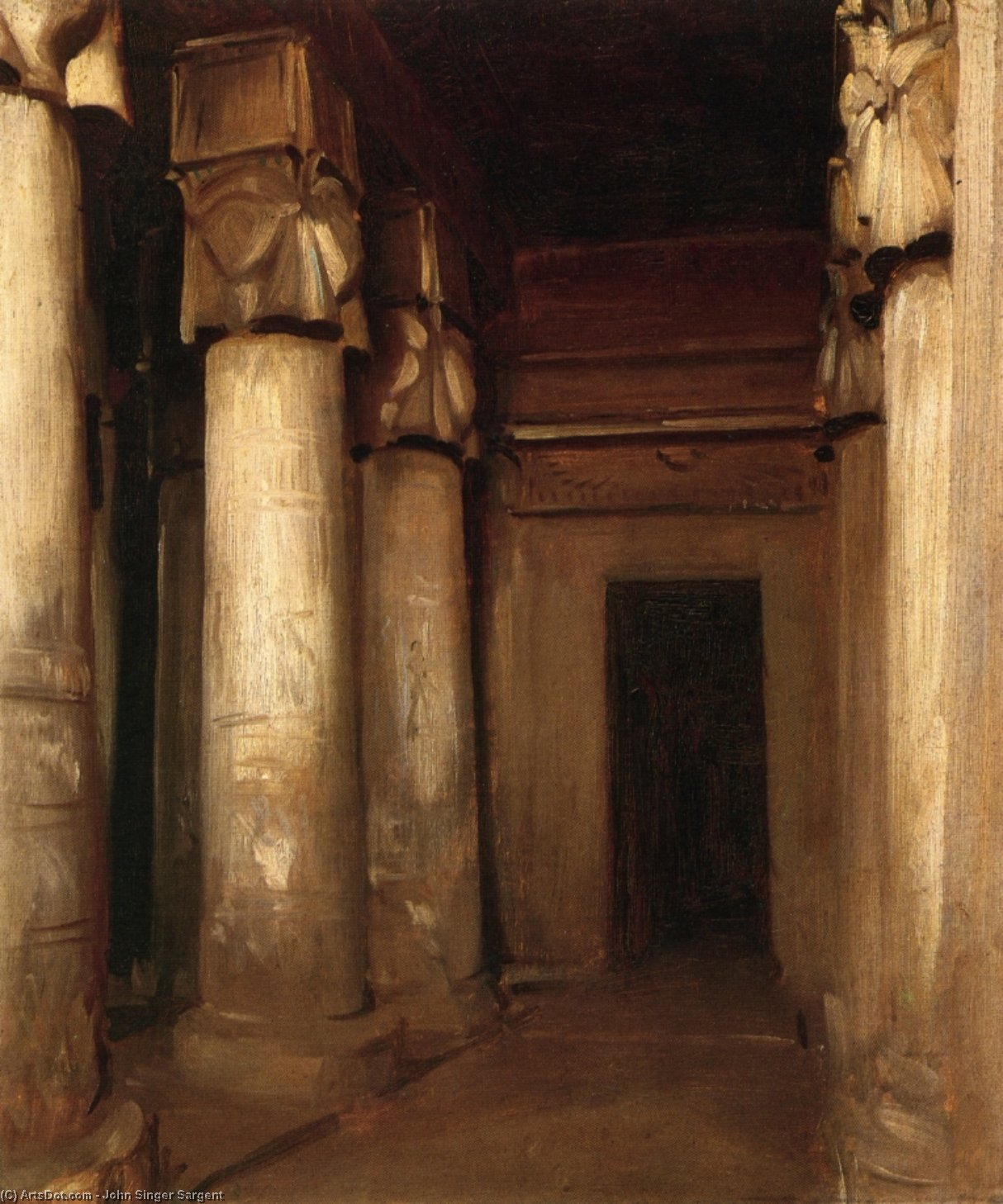 Wikioo.org - The Encyclopedia of Fine Arts - Painting, Artwork by John Singer Sargent - Temple of Denderah