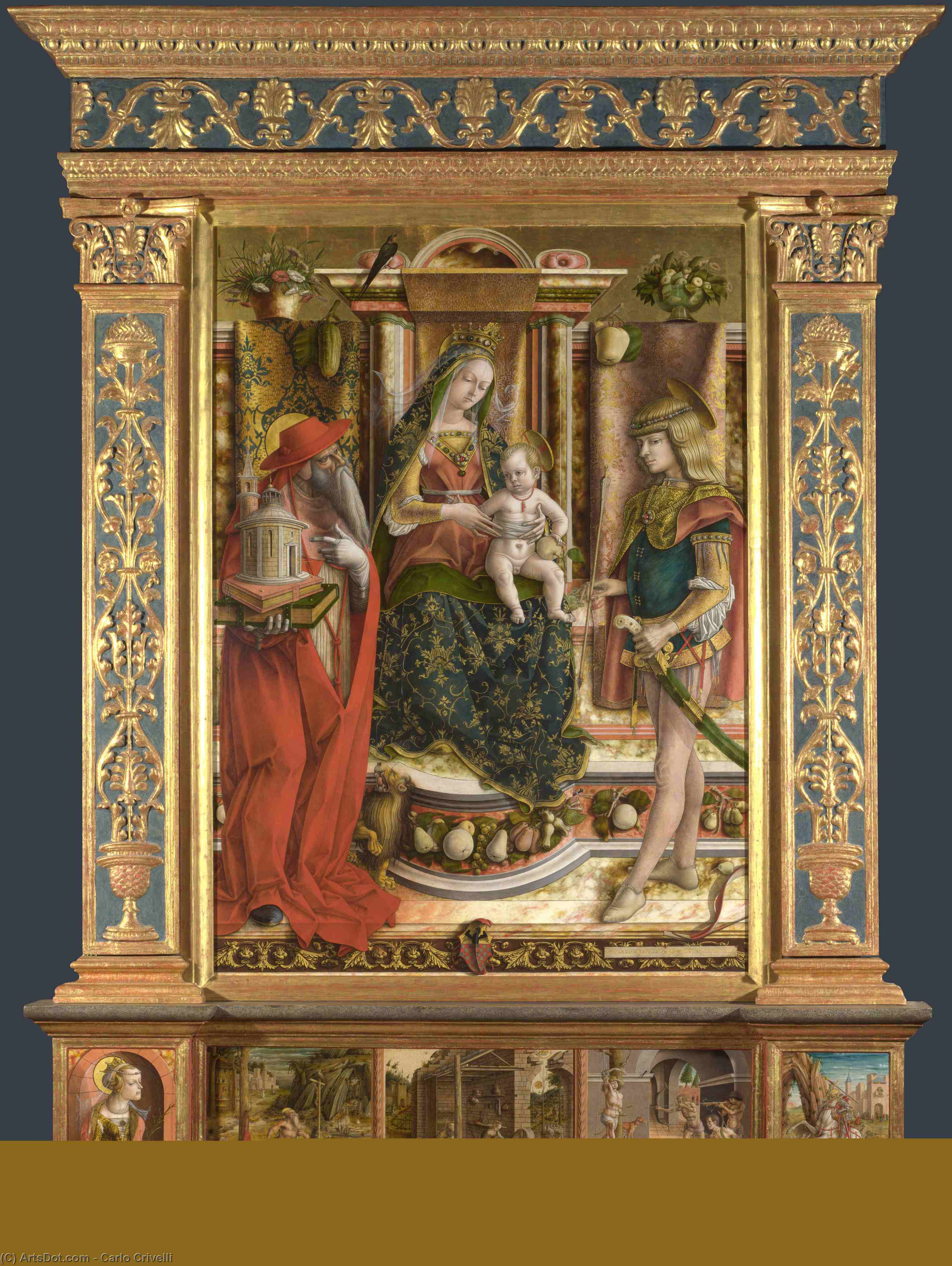 Wikioo.org - The Encyclopedia of Fine Arts - Painting, Artwork by Carlo Crivelli - Altarpiece from S. Francesco dei Zoccolanti, Matelica
