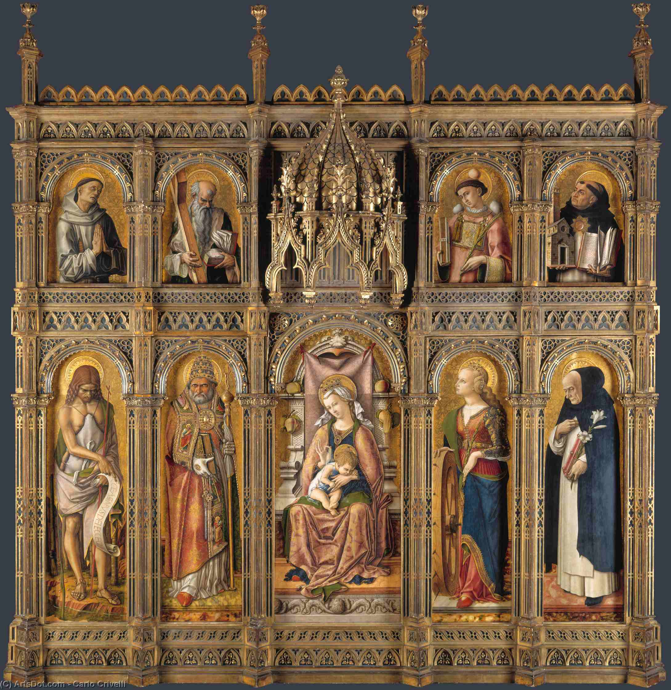 Wikioo.org - The Encyclopedia of Fine Arts - Painting, Artwork by Carlo Crivelli - The demidoff altarpiece