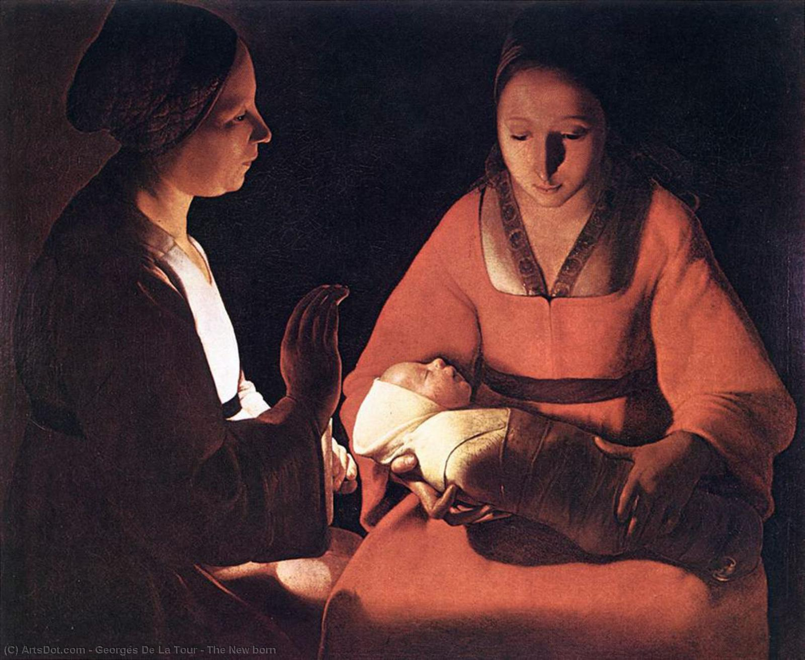 Wikioo.org - The Encyclopedia of Fine Arts - Painting, Artwork by Georges De La Tour - The New born