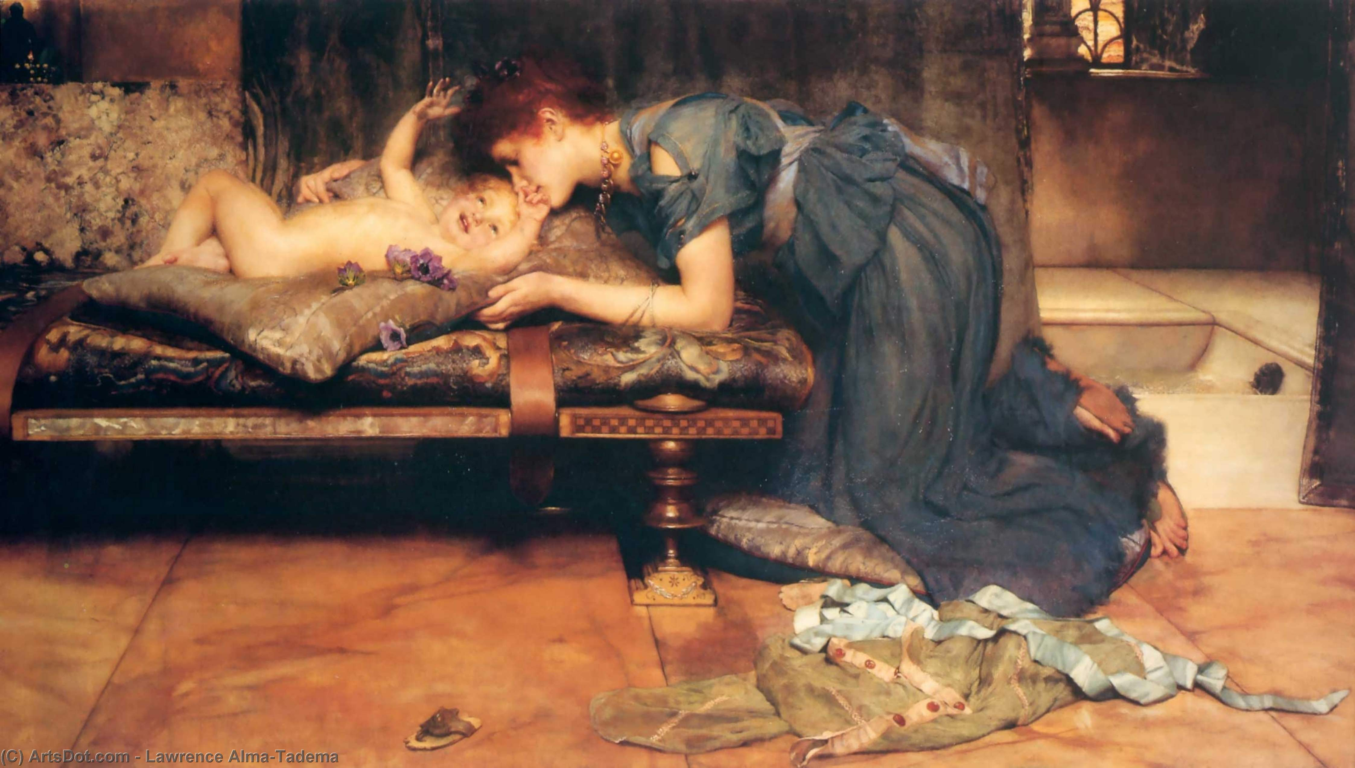 Wikioo.org - The Encyclopedia of Fine Arts - Painting, Artwork by Lawrence Alma-Tadema - An earthly paradise