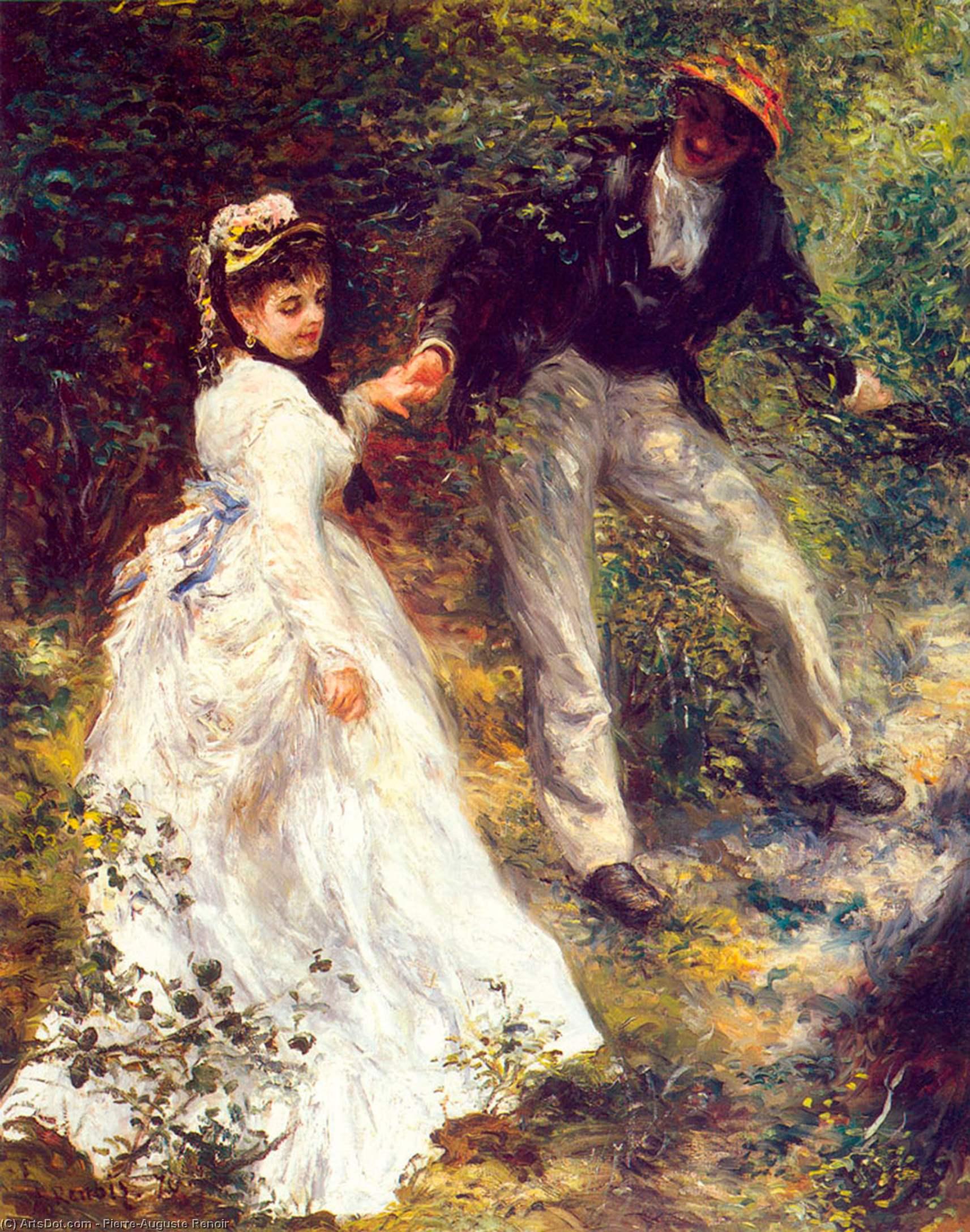 Wikioo.org - The Encyclopedia of Fine Arts - Painting, Artwork by Pierre-Auguste Renoir - La promenade