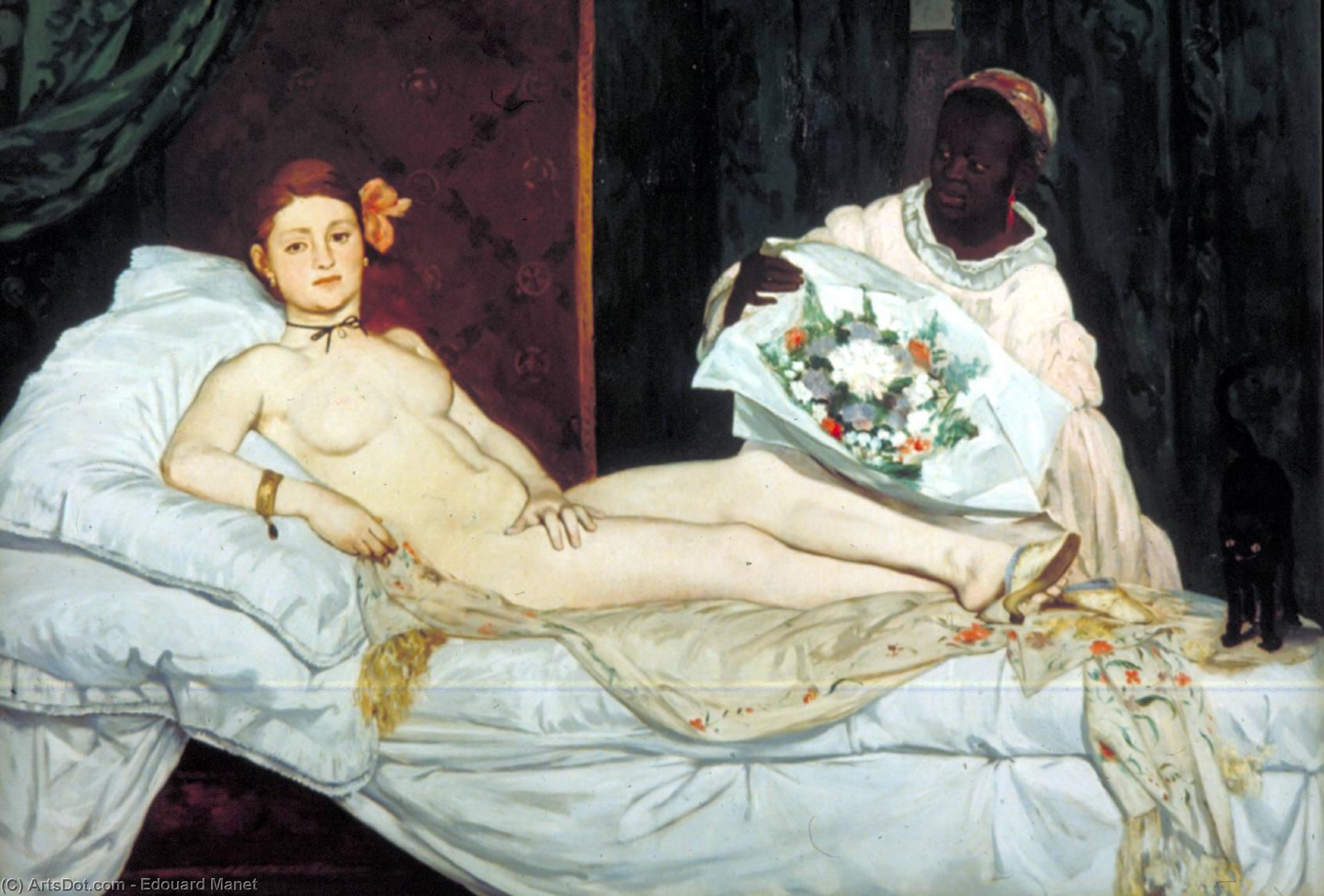 Wikioo.org - The Encyclopedia of Fine Arts - Painting, Artwork by Edouard Manet - Olympia, Musee d'Orsay, Paris