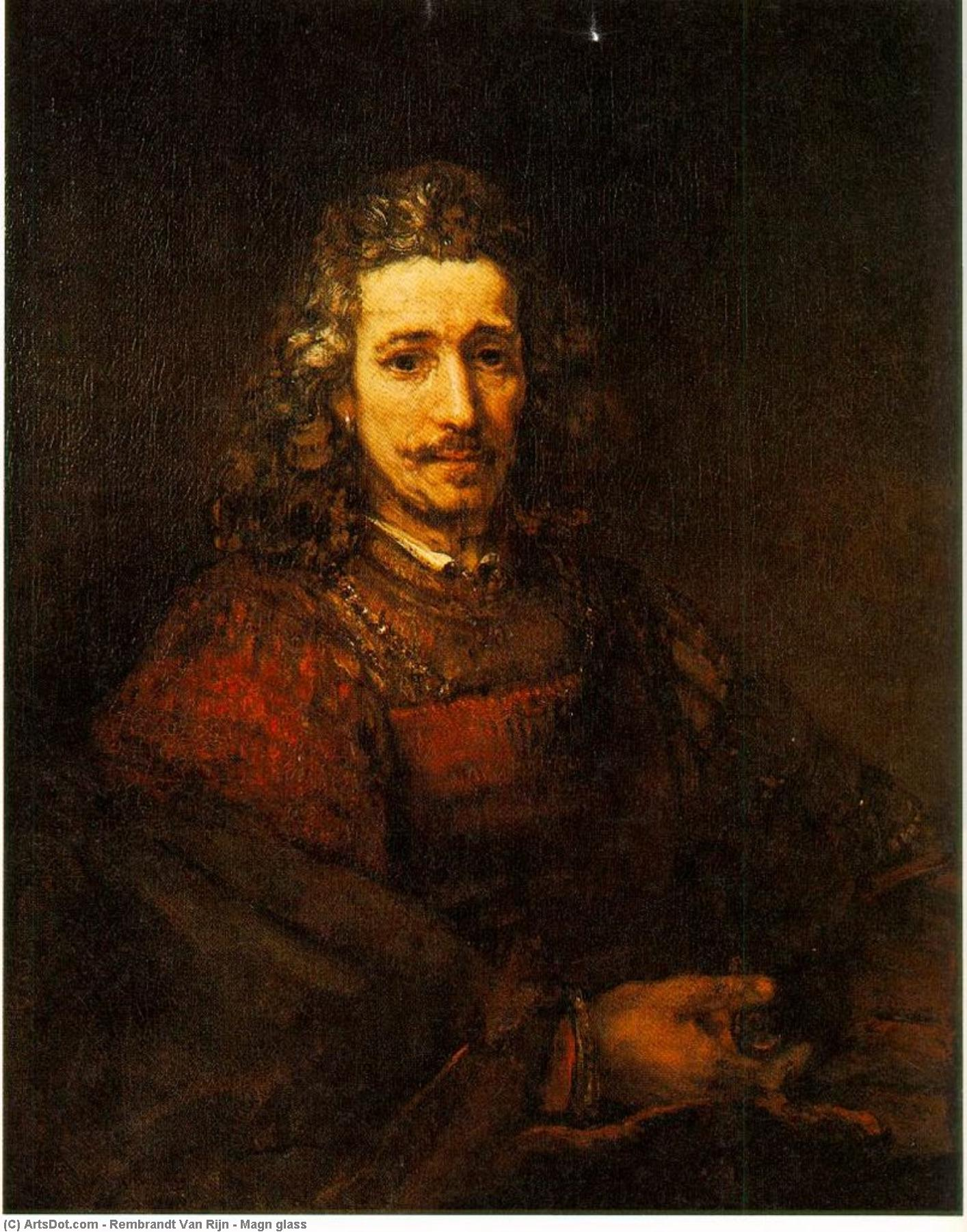 Wikioo.org - The Encyclopedia of Fine Arts - Painting, Artwork by Rembrandt Van Rijn - Magn glass