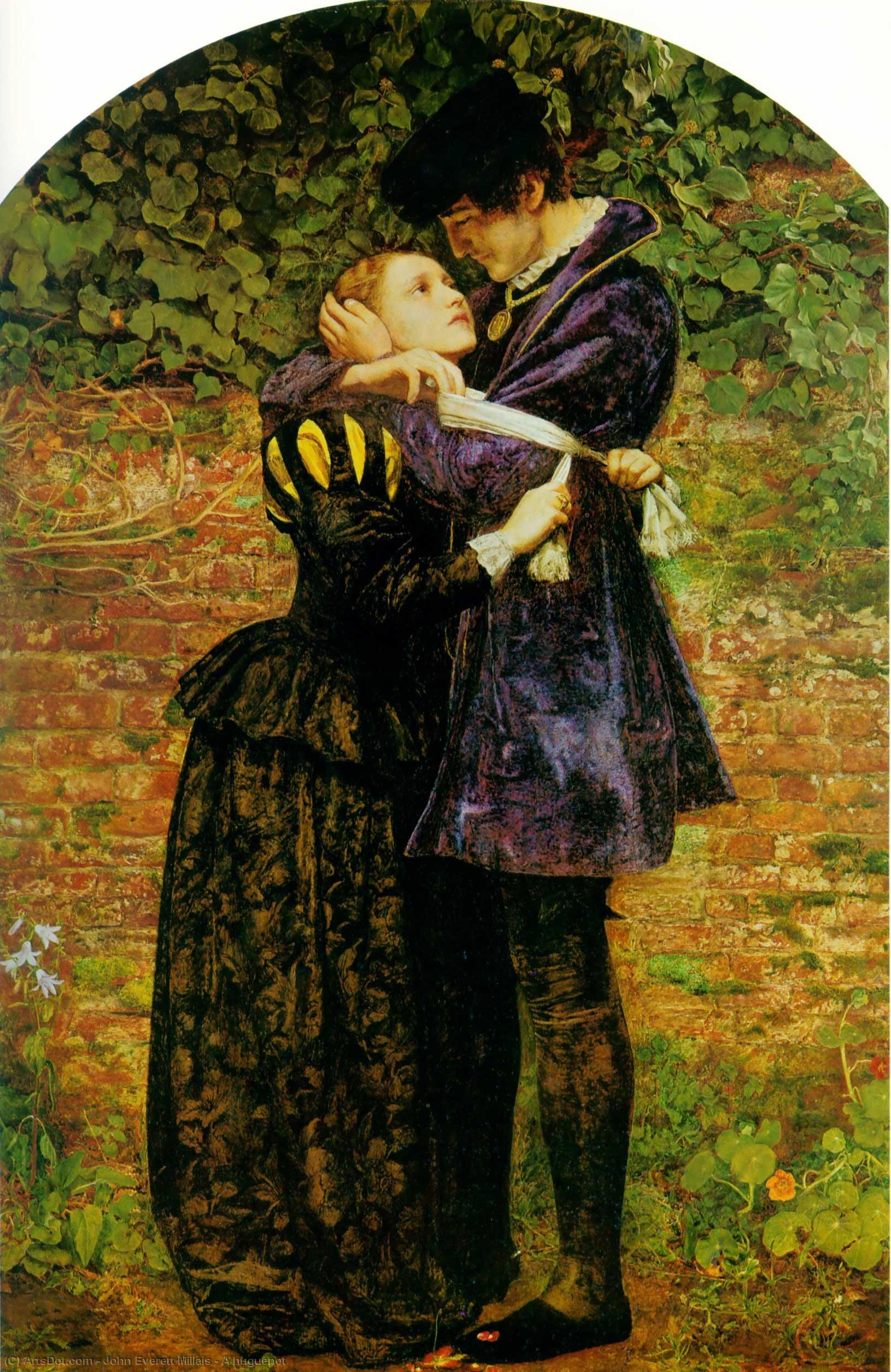 Wikioo.org - The Encyclopedia of Fine Arts - Painting, Artwork by John Everett Millais - A huguenot