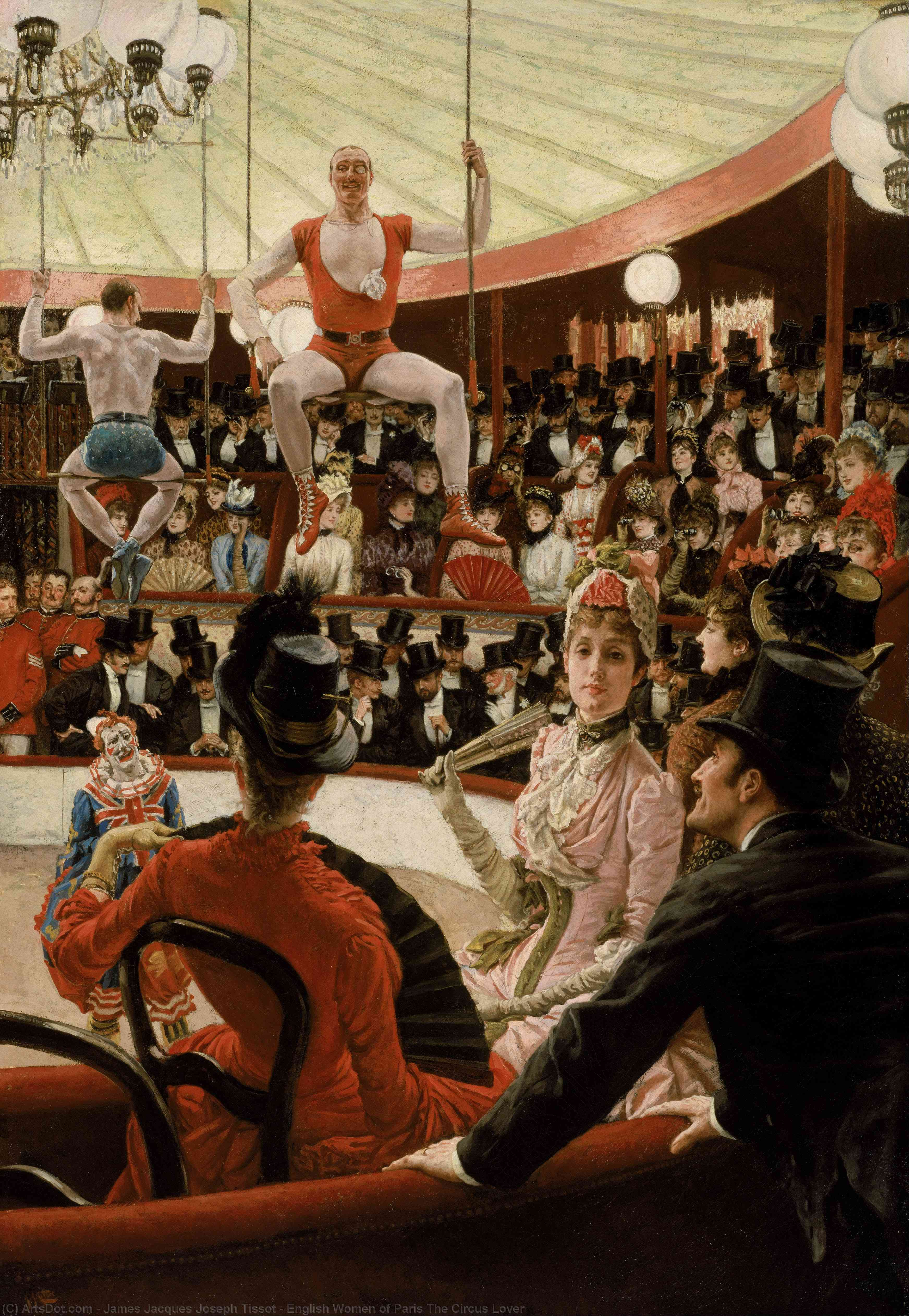 Wikioo.org - The Encyclopedia of Fine Arts - Painting, Artwork by James Jacques Joseph Tissot - English Women of Paris The Circus Lover