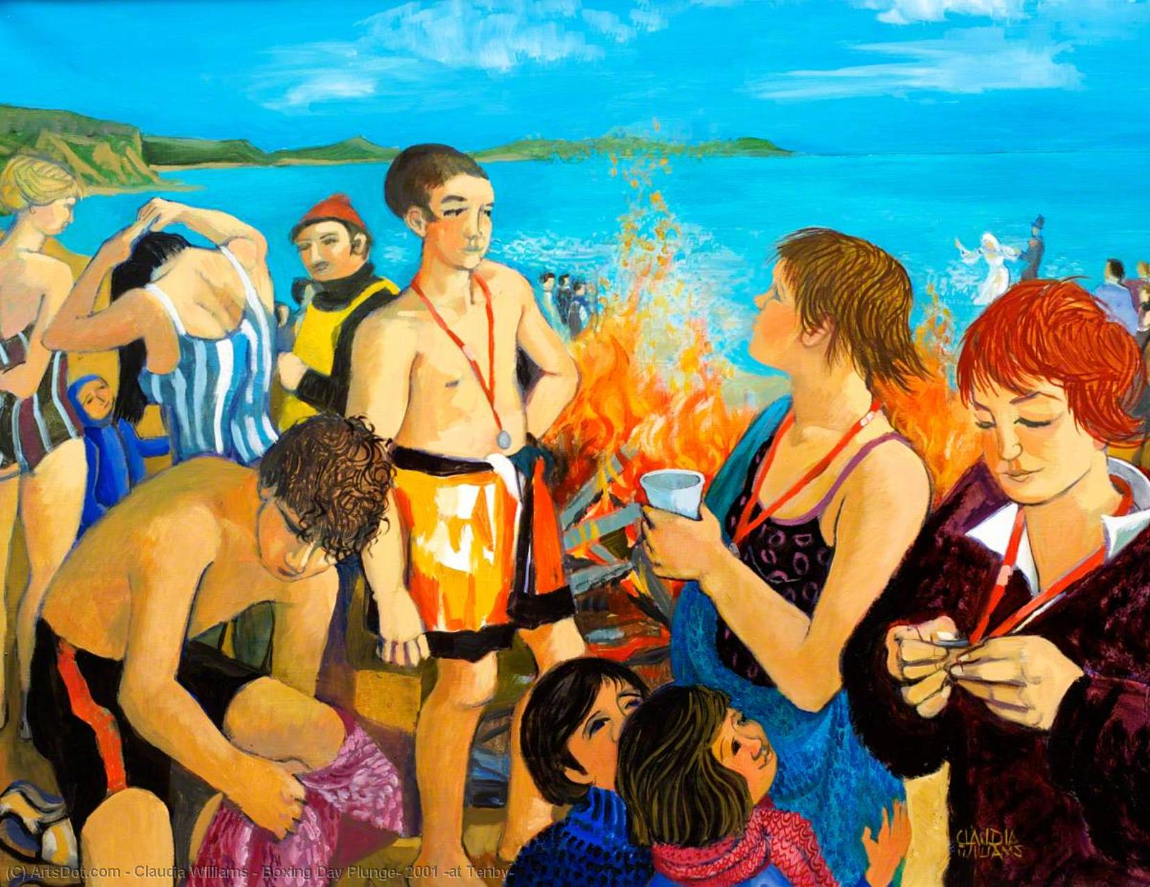 Wikioo.org - The Encyclopedia of Fine Arts - Painting, Artwork by Claudia Williams - Boxing Day Plunge, 2001 (at Tenby)