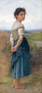 Young shepherdess CA