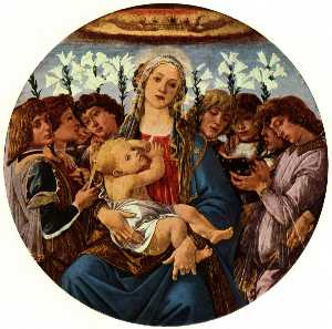 Madonna and Child with Eight Angel