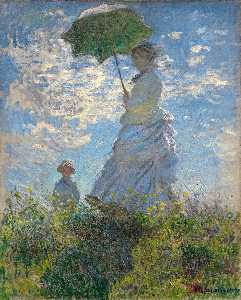 The Walk. Lady with a Parasol