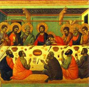 MaestÓ (back, central panel), The Last Supper