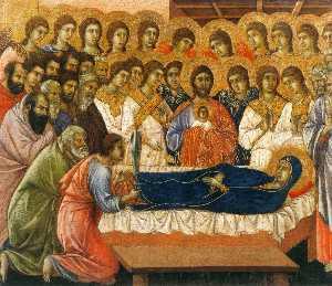maesto ( frontale , pannelli d incoronazione ) , la morte del vergine