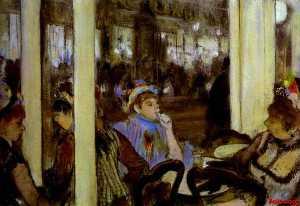 Women, on a Cafe Terrace