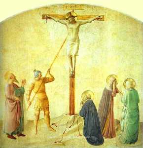 St. Dominic with the Crucifix - Piercing of the Christ's Side