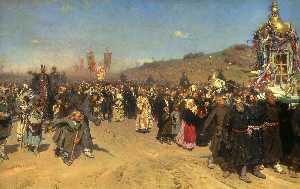 Krestny Khod (Religious Procession) in Kursk Gubernia