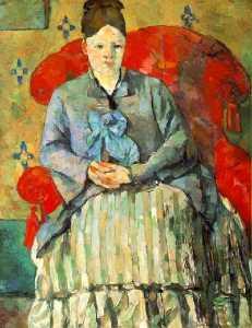 Hortense Fiquet in a Striped Skirt