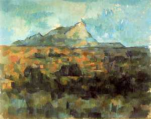 Mont Sainte-Victoire Seen from Les Lauves (Switzerland)