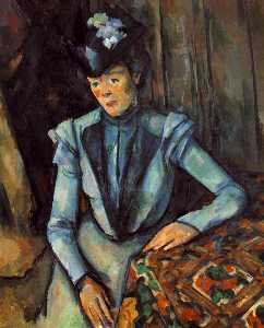 Woman Seated in Blue