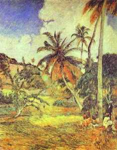 Palm trees on Martinique