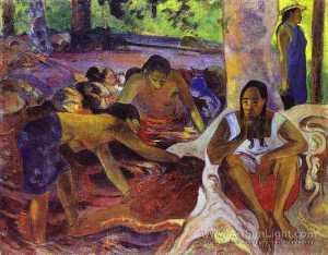 The fisherwomen of Tahiti