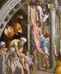 Stanze Vaticane - The Fire in the Borgo (detail) [01]