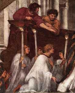 Stanze Vaticane - The Mass at Bolsena (detail) [01]