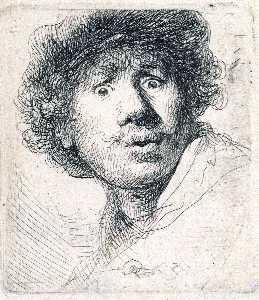 Self-Portrait with Wide-Open Eyes