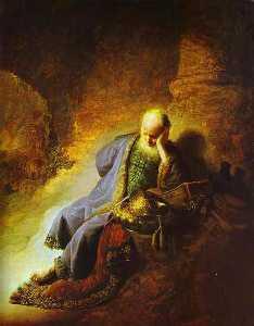 The Prophet Jeremiah Mourning over the Destruction of Jerusalem