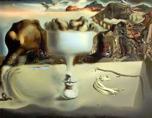 Apparition Of Face And Vase On The Beach